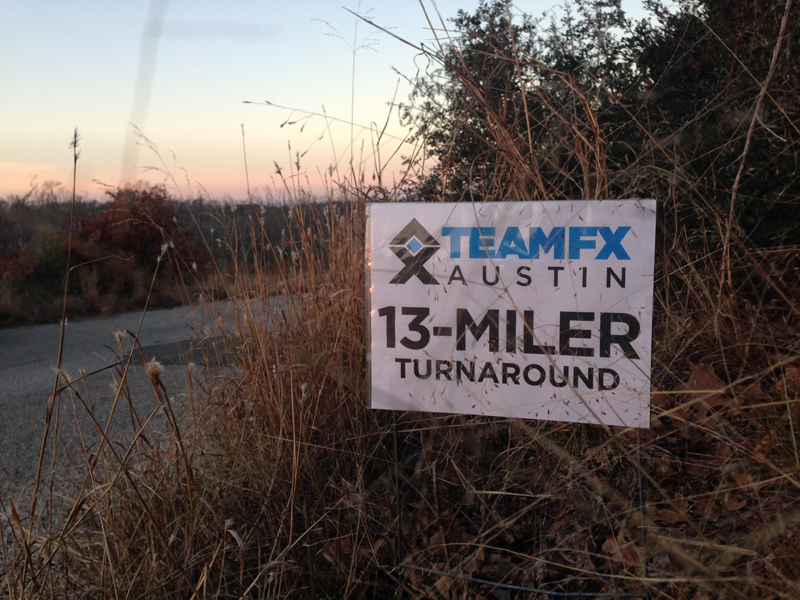 Team FX Race sign on the side of the path