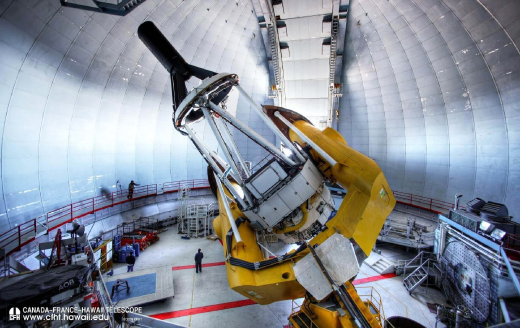 Close up view of the Canada-France-Hawaii Telescope