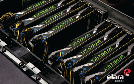BOXX System with 8 NVIDIA GeForce GTX GPUs